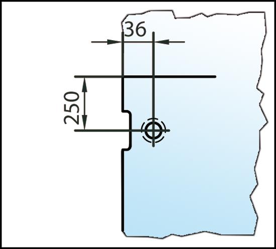 Winkelverbinder Plan artist Glas-Wand 90° Anschraubplatte nach innen