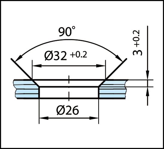 Winkelverbinder Plan artist Glas-Wand 90° Anschraubplatte nach außen
