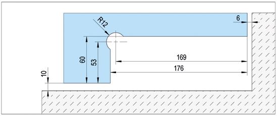 Alva Självstängande hörnbeslag EN3 med Öppningsdämpning