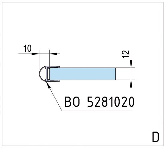 Duschtürband Barcelona Select Glas-Wand 90° einseitige Wandmontage