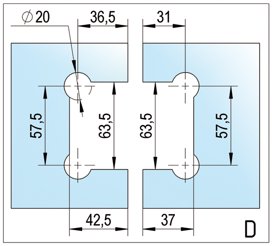 Duschtürband Barcelona Select Glas-Glas 180°