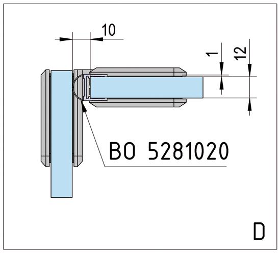 Duschtürband Barcelona Select Glas-Glas 90°