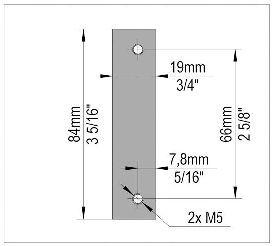 FrameTec Select 2.0 Retainer plate for aluminun frame hinge