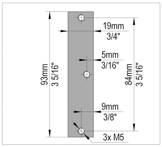 FrameTec Select 2.0 Retainer plate for stainless steel frame hinge