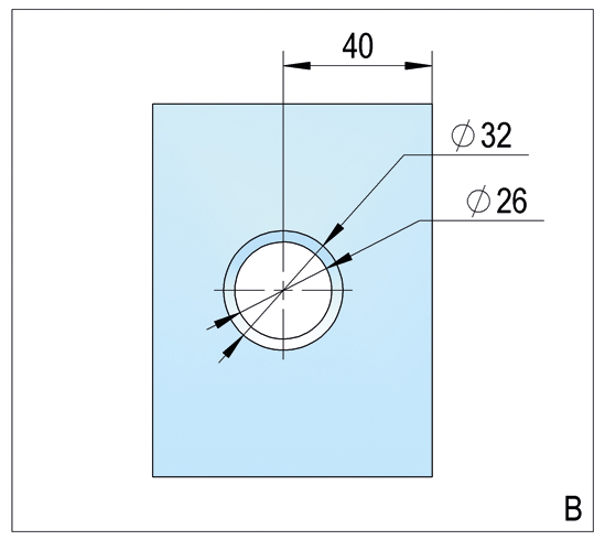 Duschtürband Lugo Glas-Wand 90° nach außen öffnend DIN rechts