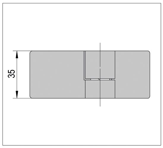 Duschtürband Lugo Glas-Glas 135° nach außen öffnend DIN links