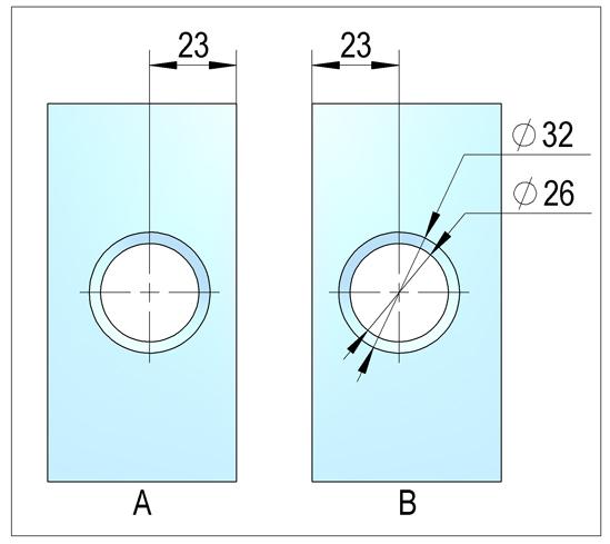 Duschtürband Lugo Glas-Glas 135° nach außen öffnend DIN rechts