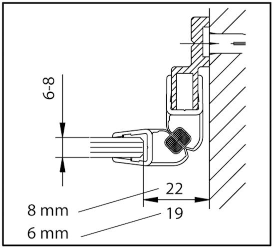 Magnetleistenträger Nischenlösung