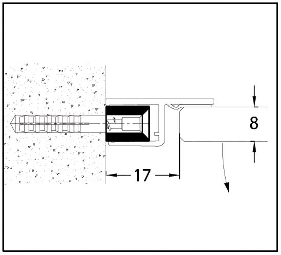 Support profil för Duschdörrtätningar