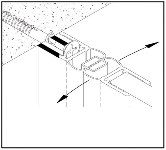 Trägerprofil für Duschtürdichtungen
