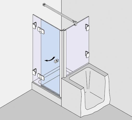 Kombination Badewannenaufsatzprofil und Magnetleistenträger