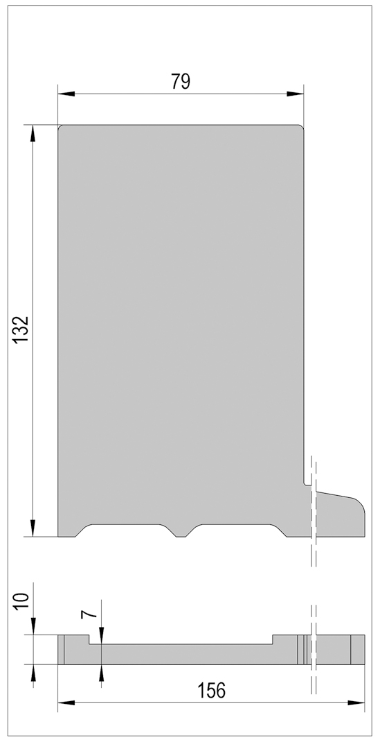 VetroMount® Endkappe für Bodenprofil F