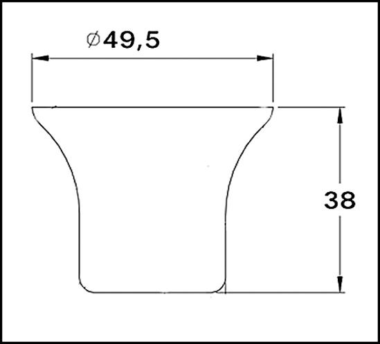 Wandanschluss 90° Bohle round ø19