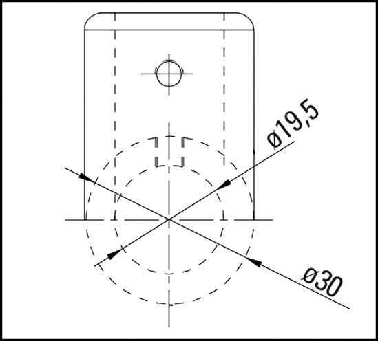 Eckverbinder 90° Bohle round ø19