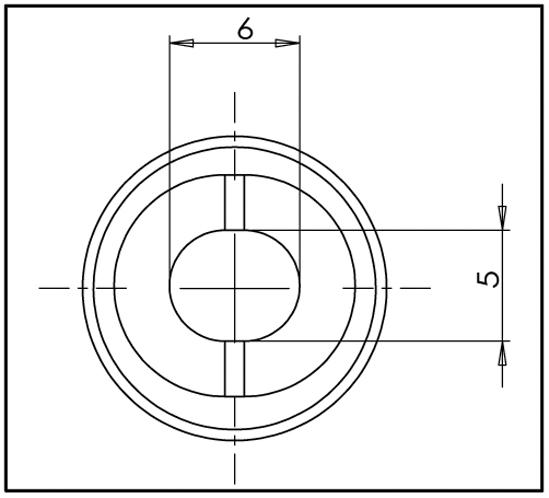 Wandanschluss 90° Bohle round ø12