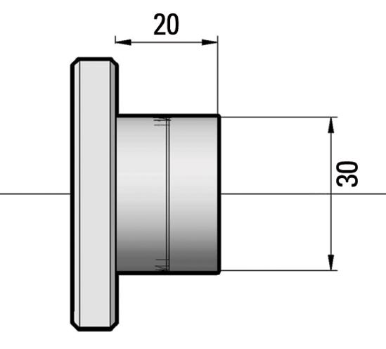 Magneet-punthouder ø 30 om te verlijmen 2 delig