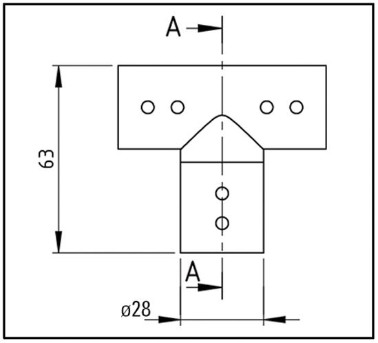 Dreieckverbinder mit Glasanschluss Bohle round ø19