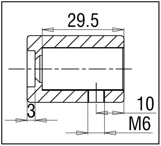 Wandanschluss 90° Bohle square 15x15