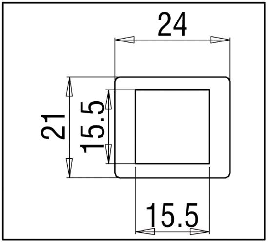 Wandanschluss 45° Bohle square 15x15