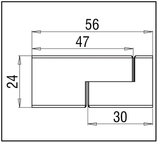 Wandanschluss verstellbar 90° Bohle square 15x15