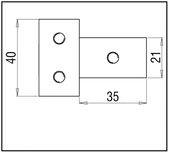 Dreieckverbinder Bohle square 15x15