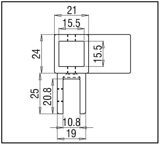 Eckverbinder verstellbar mit Glasanschluss Bohle square 15x15