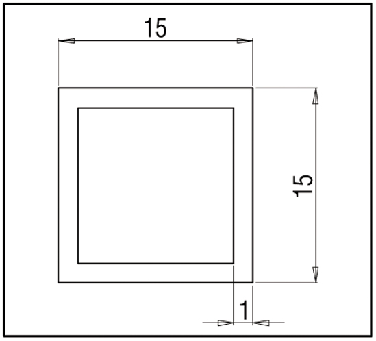 Stabilisierungsstange Bohle square 15x15