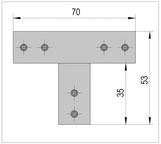 Three-Point Connector angular Bohle Basic square 12x12