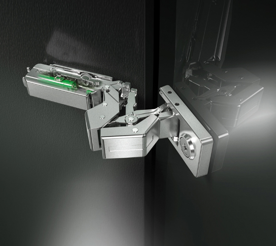 Tiomos Mirro Glass and Mirror Door Hinge, 125°