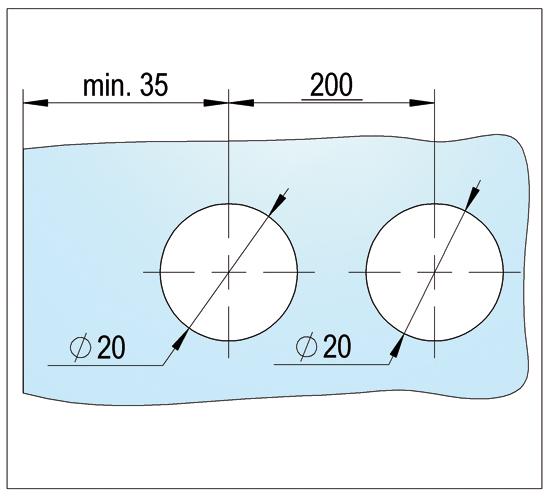 Bohle MasterTrack® FT Faltávolságtartó profil / üvegfalszerelő profil