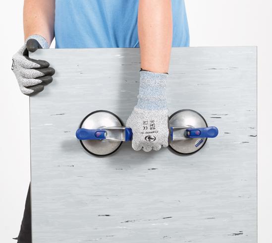 Veribor® blue line Saugheber, 2-Kopf-Alu mit Längsgriff