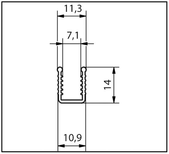 Einschuhprofil 8 + 10 mm