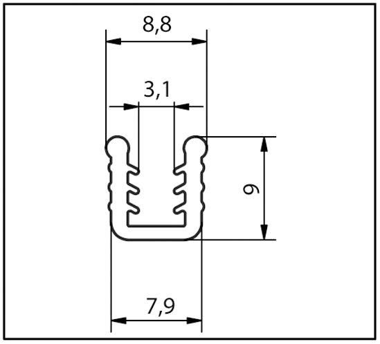 Einschuhprofil 4 + 5 mm