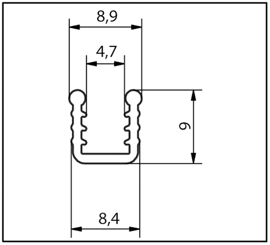 Bedding Profile for 5 - 6 mm Glass