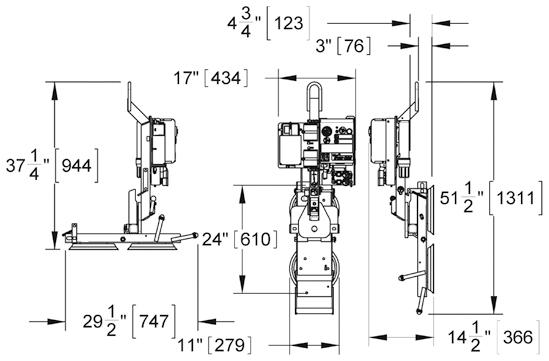 Wood's Powr-Grip® Vakuum Hebeanlage P1HV1102DC Traglast 135 kg