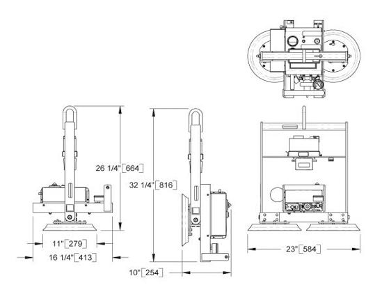 Wood's Powr-Grip® Vakuum Hebeanlage MT2HV11DCO Traglast 135 kg