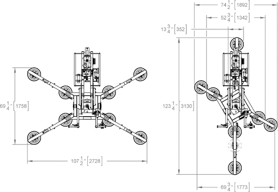 Wood's Powr-Grip® vakuumlyftare MRTA811LDCS Bärkraft 635 kg