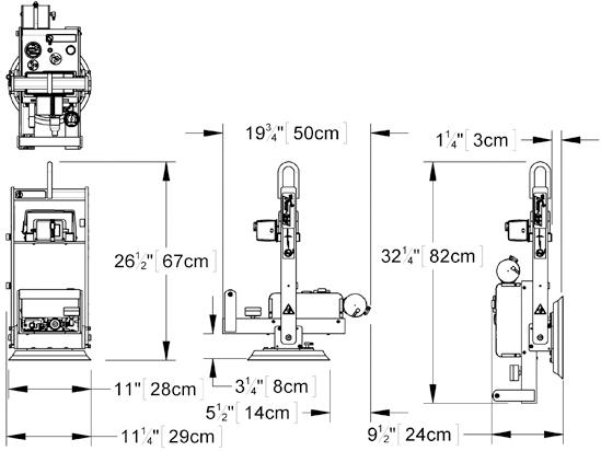 Wood's Powr-Grip® Vakuum Hebeanlage MT1HV11DC Traglast 70 kg