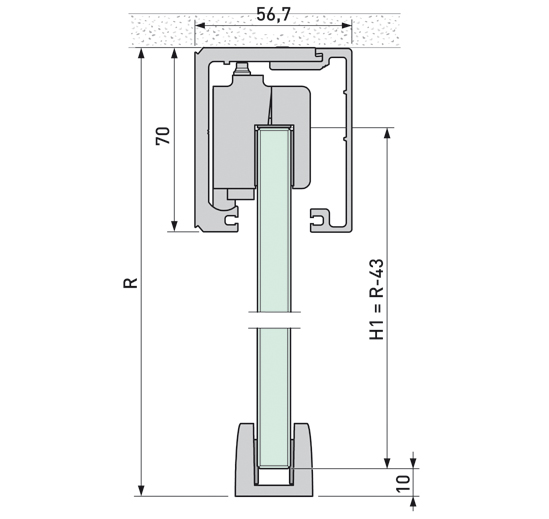 Portavant 120 Set Deckenmontage 2-flügelig