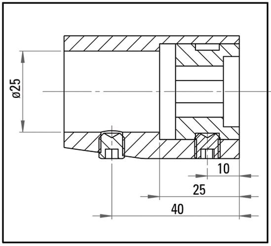 SlideTec Schiebehülse für Wandbefestigung