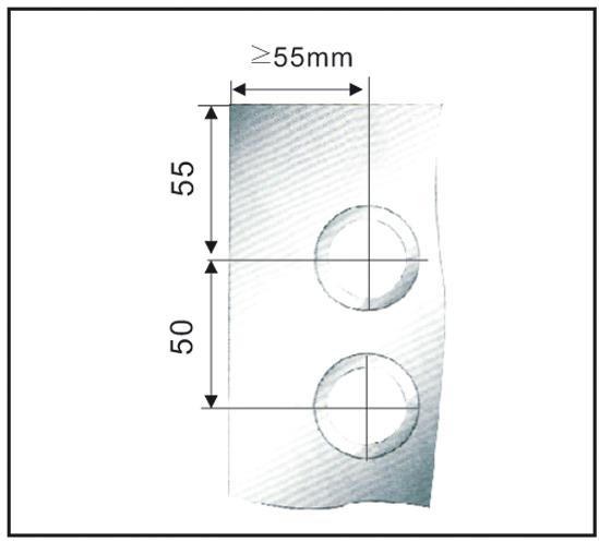SlideTec Set Wandmontage ohne Laufschienenrohr