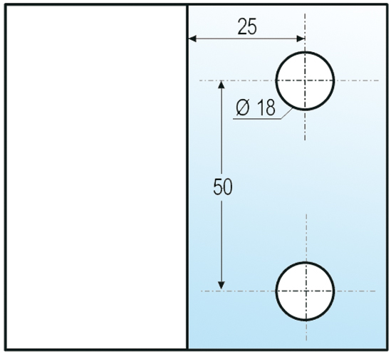 Winkelverbinder Barcelona Glas-Wand 90°